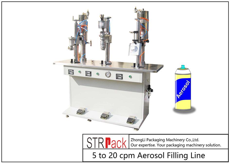 Halvautomatisk aerosolfyllningsmaskin