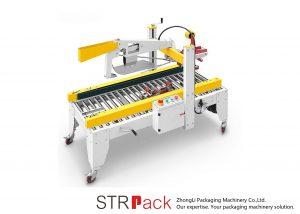 Automatiska självhäftande tejpflikar Vikfack kartongförpackningsmaskin