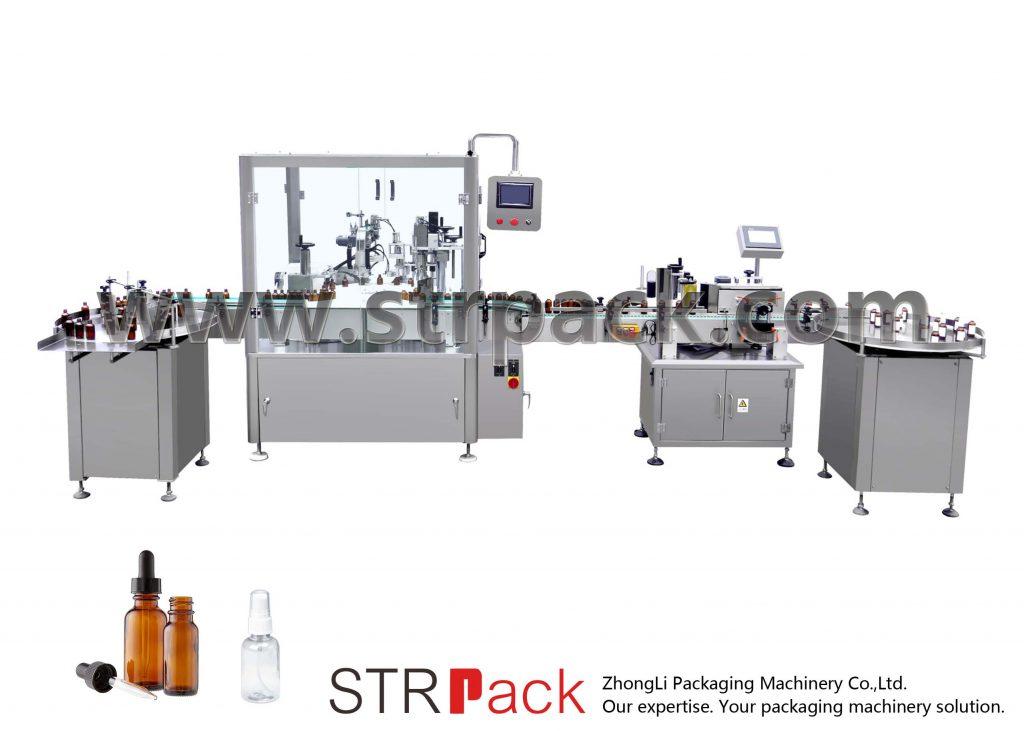 Automatisk påfyllningsmaskin för droppflaskor
