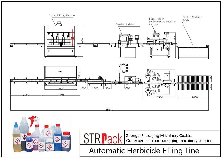 Automatisk fyllmedel för herbicid
