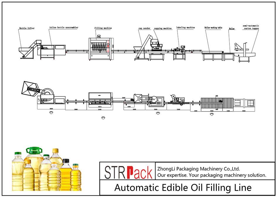 Automatisk fyllningslinje för ätlig olja