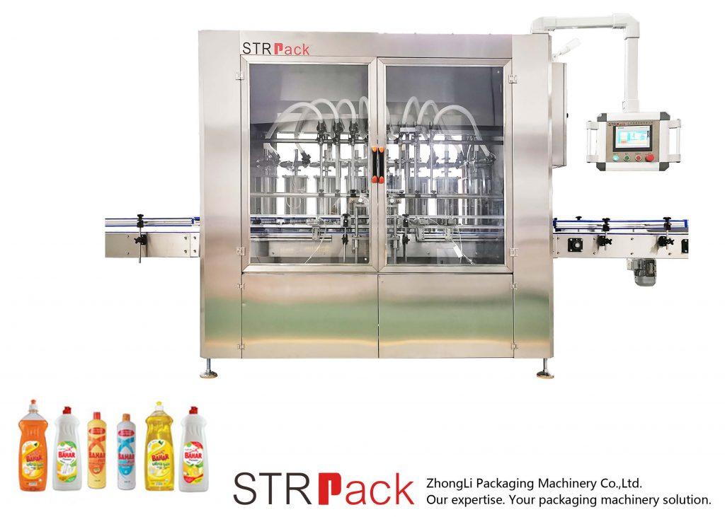 Automatisk vätskepåfyllningsmaskin av kolvstyp